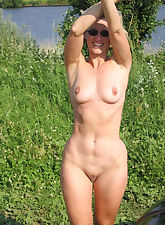 The talented outdoor hairy milf matchless