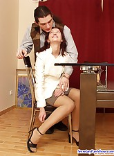 Secretary Pantyhose pic 5