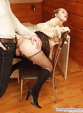 Secretary Pantyhose pic 17