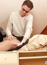 Secretary Pantyhose pic 9