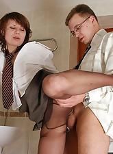 Secretary Pantyhose pic 16