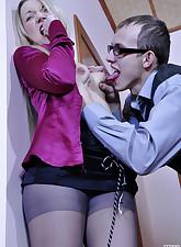 Secretary Pantyhose pic 6