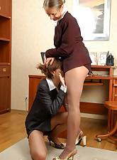 Secretary Pantyhose pic 12