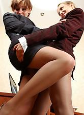 Secretary Pantyhose pic 13
