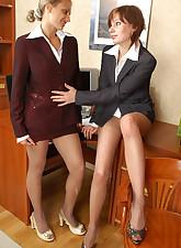 Secretary Pantyhose pic 19