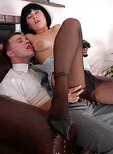 Secretary Pantyhose pic 18