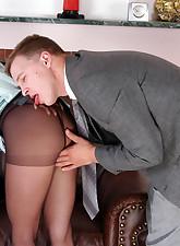 Secretary Pantyhose pic 8