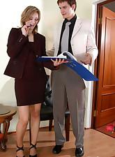 Secretary Pantyhose pic 20