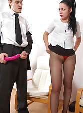 Secretary Pantyhose pic 10