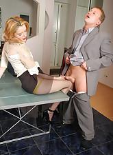 Secretary Pantyhose pic 14