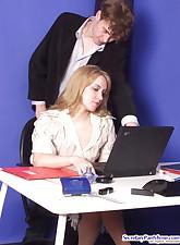 Secretary Pantyhose pic 4