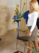 Secretary Pantyhose pic 1