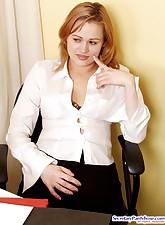Secretary Pantyhose pic 3