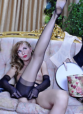 Lacy Nylons pic 15