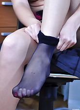 Lacy Nylons pic 11