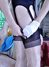 Lacy Nylons pic 9