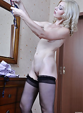 Lacy Nylons pic 6
