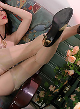 Lacy Nylons pic 16